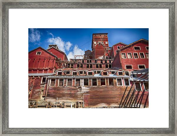 Mining Glory In Red Framed Print