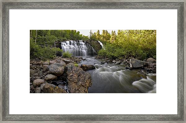 Mink Falls Framed Print
