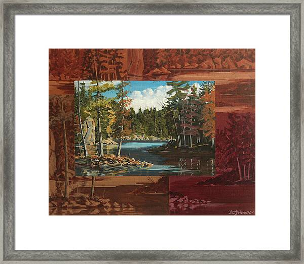 Mink Lake Exit Framed Print