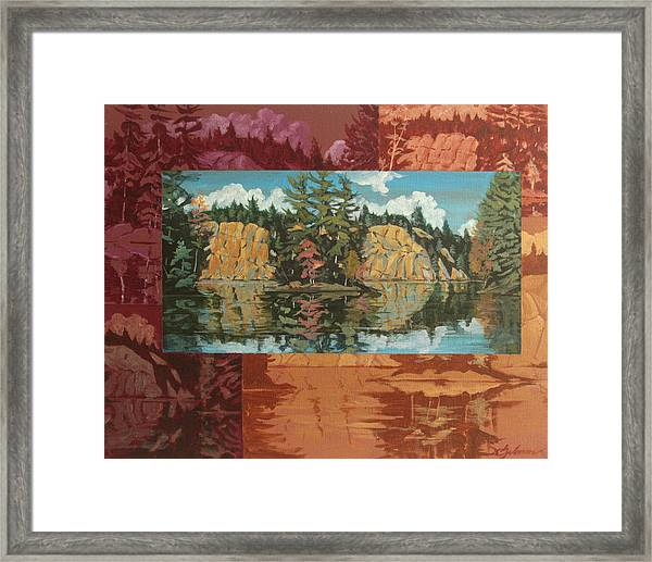 Mink Lake In Fall Framed Print