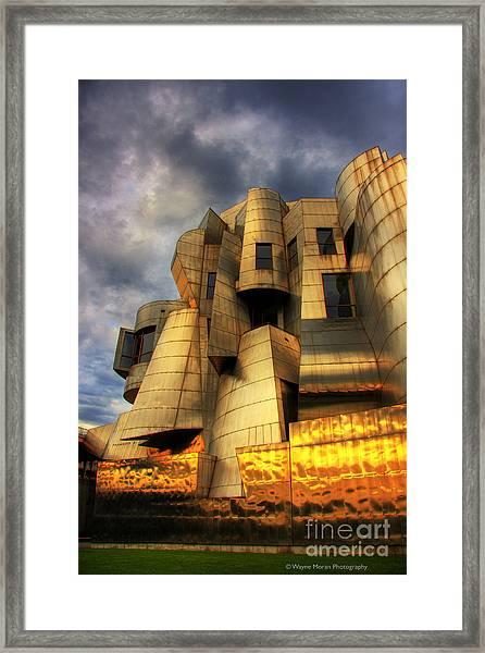 Minneapolis Skyline Photography Weisman Museum Framed Print