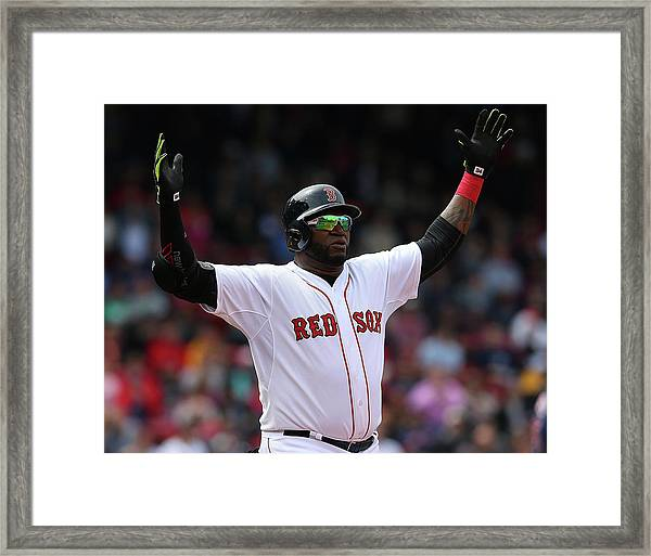 Minnesota Twins V Boston Red Sox - Game Framed Print