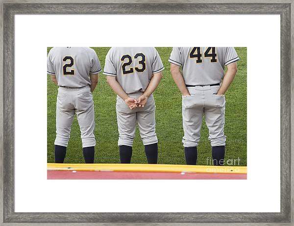 Minor League Baseball Players Framed Print