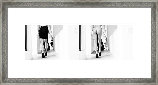 Mirror , Mirror ... Framed Print by Bart Peeters
