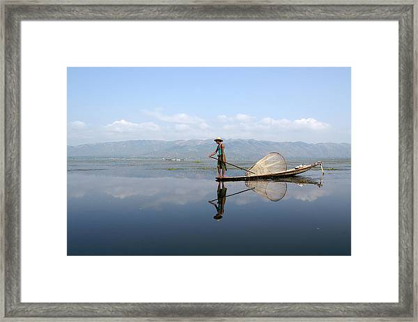 Mirror Inle Lake Framed Print by Jessica Rose