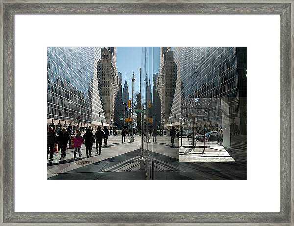 Mirror Reflection  On 42nd Street Framed Print