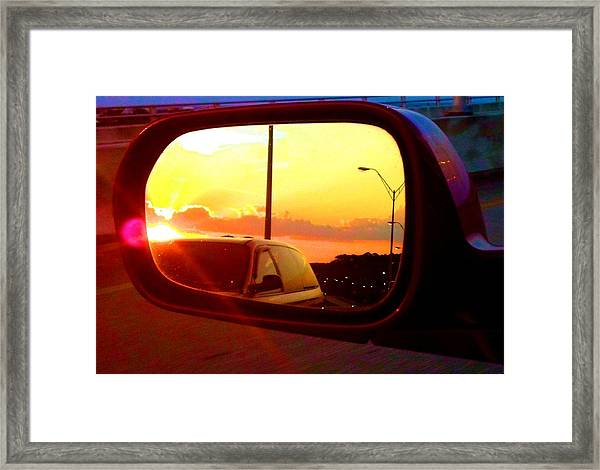 Mirror Sunset Framed Print