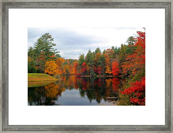 Mirrored Lake Framed Print