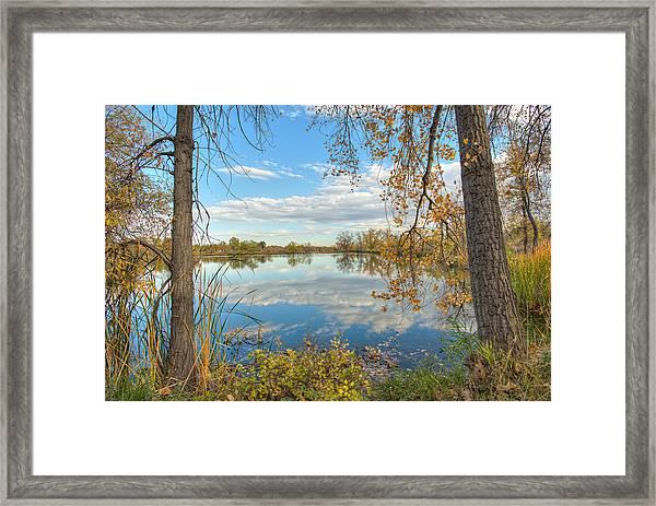 Mirrored Sky Framed Print