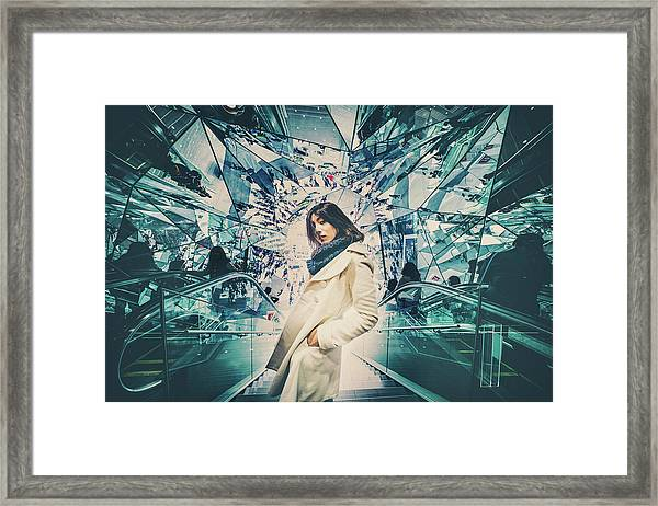 Mirrors Framed Print