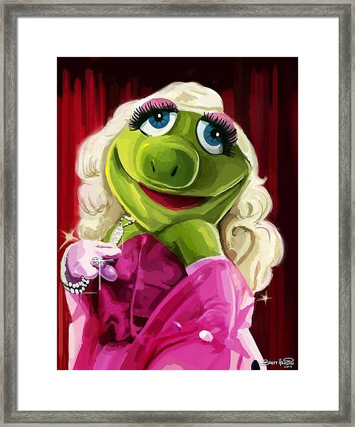 Miss Froggy Framed Print