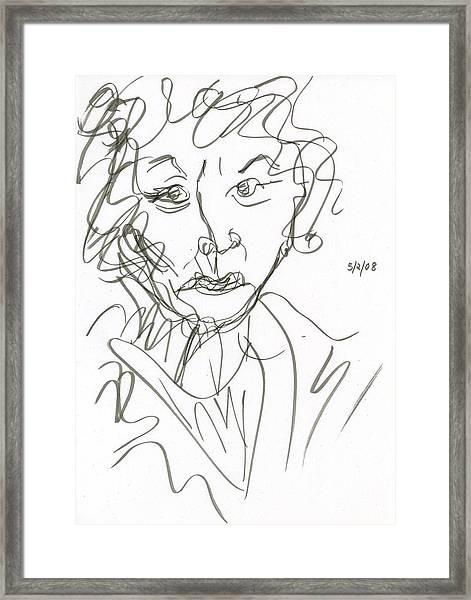Miss Marple Sketch I Framed Print