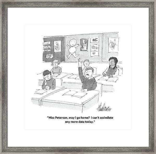 Miss Peterson Framed Print