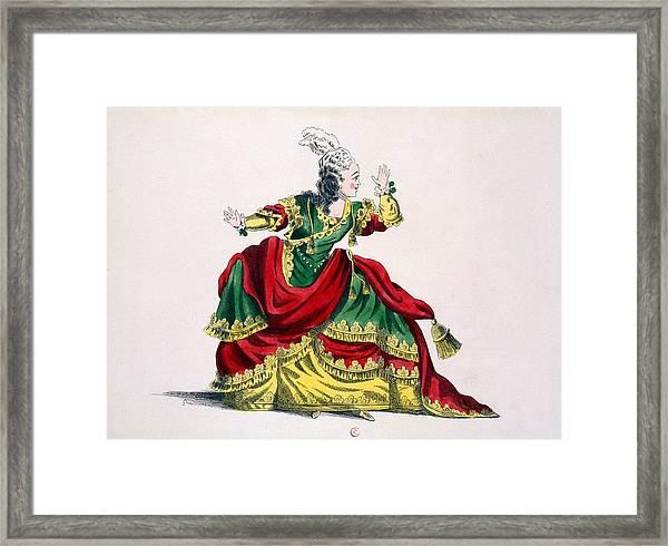 Miss Sainval As Zenobie In Zenobie Framed Print