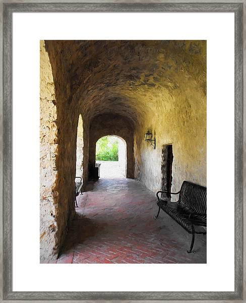 Mission Arches  Framed Print