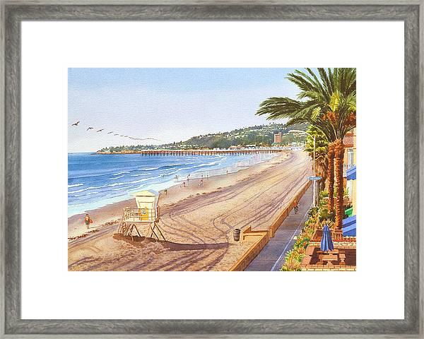 Mission Beach San Diego Framed Print
