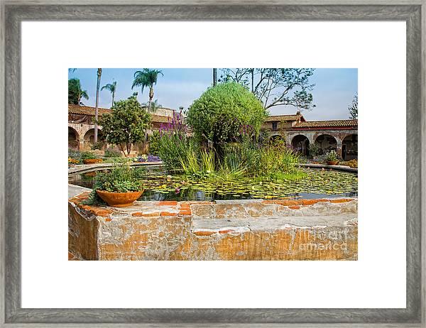 Mission Lilly Pond Framed Print