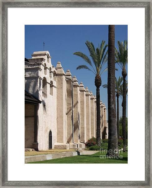 Mission Palms Framed Print