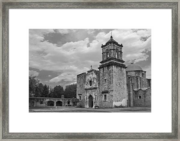 Mission San Jose Bw Framed Print