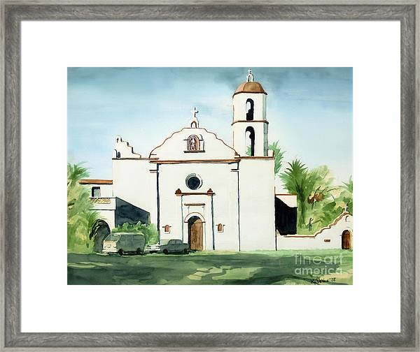 Mission San Luis Rey Colorful II Framed Print