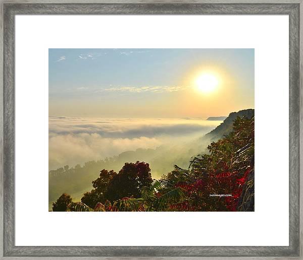 Mississippi River Fog Framed Print
