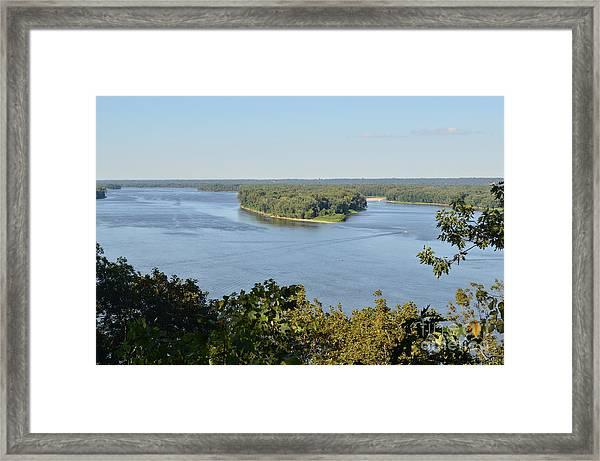Mississippi River Overlook Framed Print