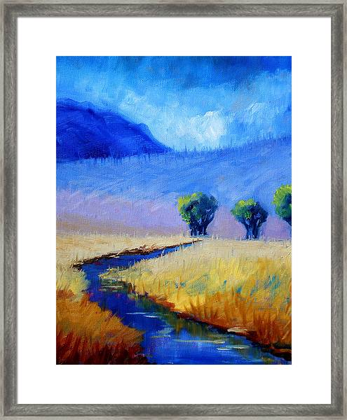 Mist In The Mountains Framed Print
