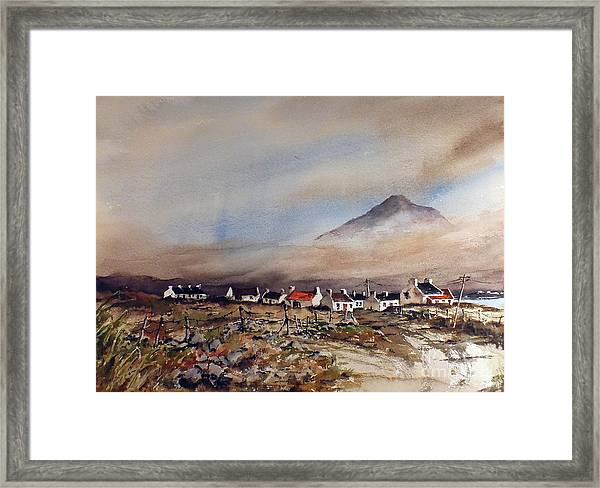 Mist Over Dugort Achill Island Mayo Framed Print