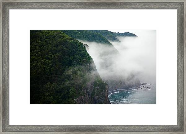 Mist Over Kitayamazaki Framed Print
