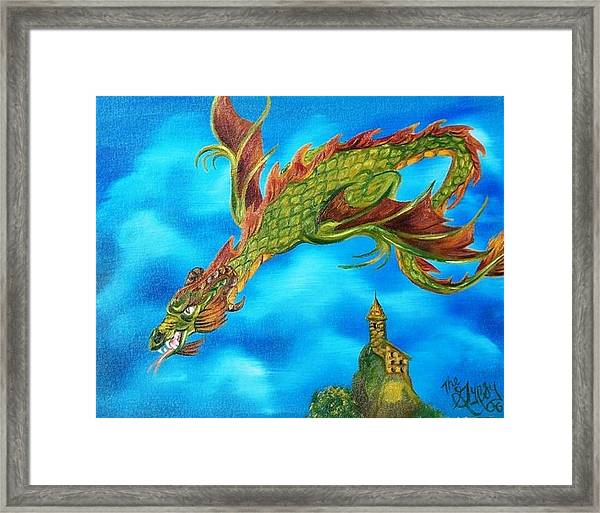 Mistress Of The Wizards Keep Framed Print