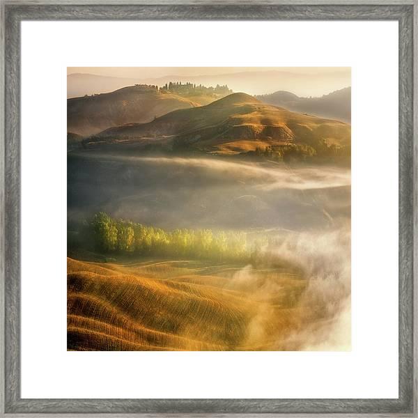 Mists... Framed Print by Krzysztof Browko