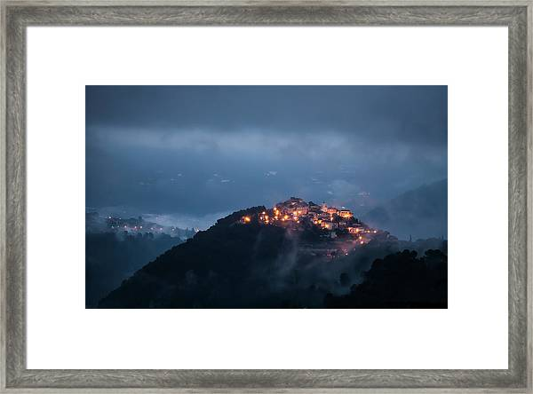 Misty Framed Print by Art Lionse