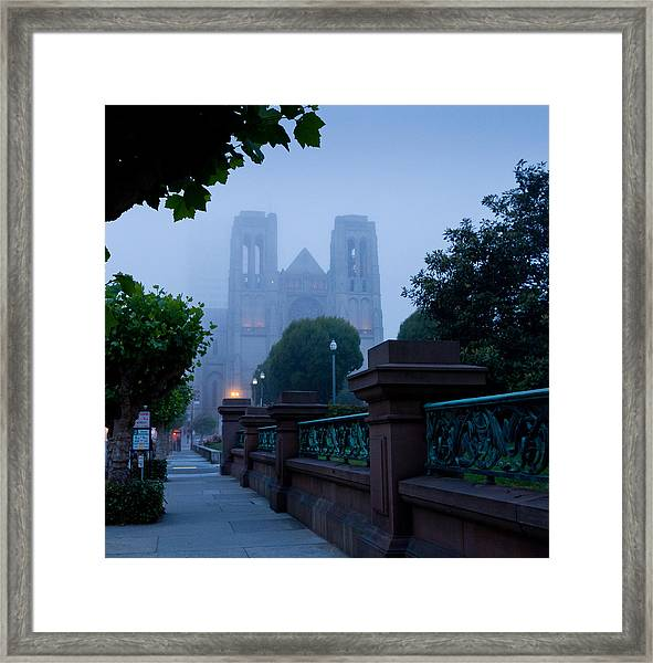 Misty Blues Framed Print
