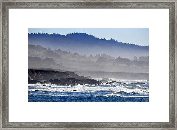 Misty Coast Framed Print