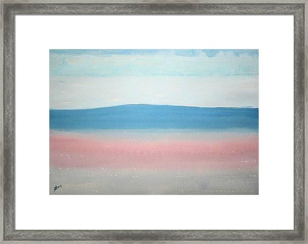Misty Lake Original Painting Framed Print