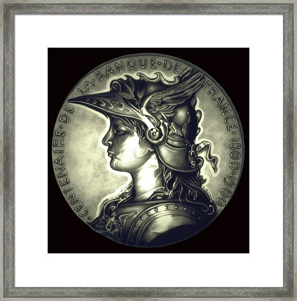 Misty Midnight Black Marianne Framed Print