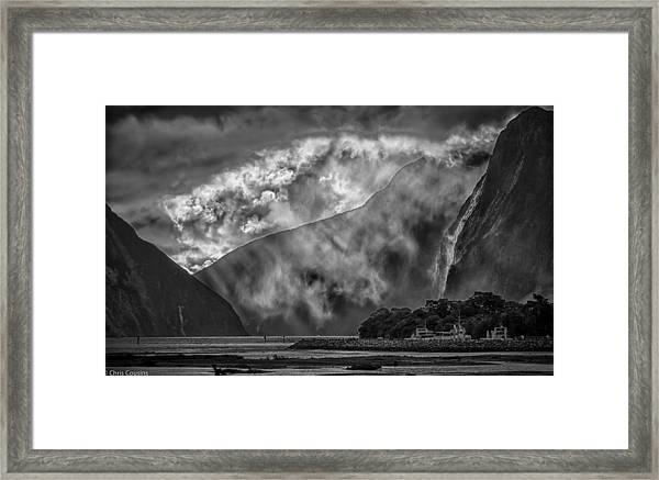Framed Print featuring the photograph Misty Milford by Chris Cousins