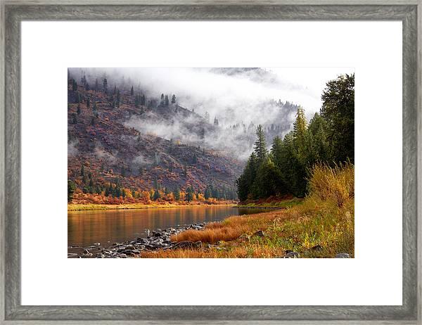 Misty Montana Morning Framed Print