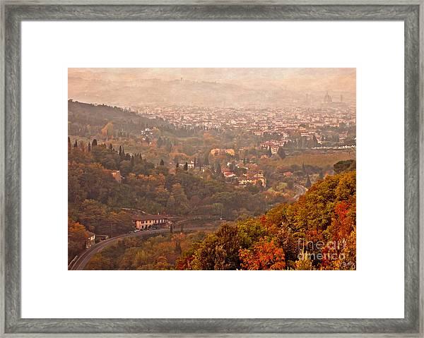 Misty Morn O'er Florence Framed Print