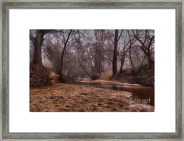 Framed Print featuring the photograph Misty Morning Creek by Glenda Wright