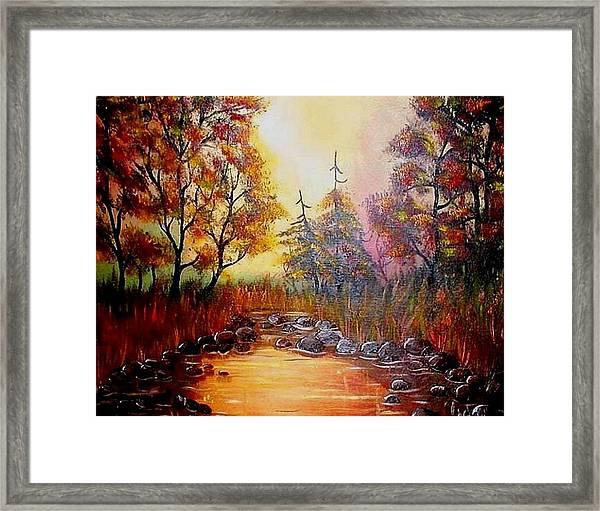 Misty Morning Marsh Framed Print