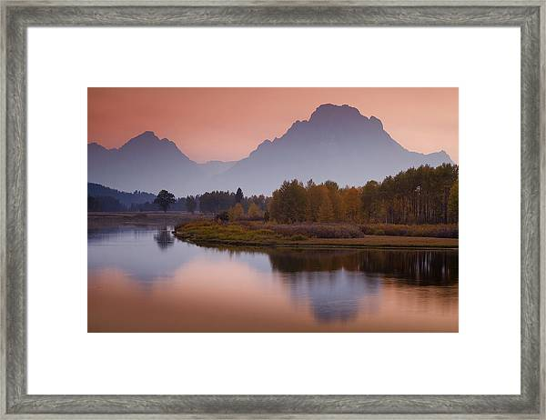 Misty Mountain Evening Framed Print by Andrew Soundarajan