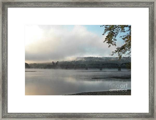 Misty Railway Bridge Framed Print