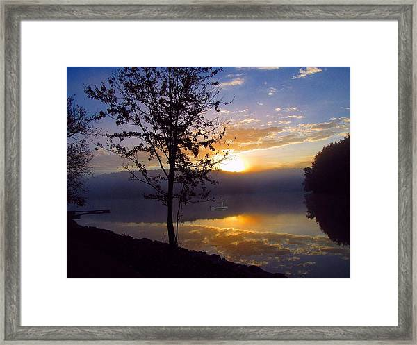 Framed Print featuring the photograph Misty Reflections by David Dehner