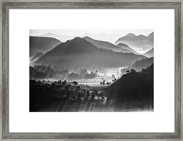 Misty Sea Of Clouds Framed Print