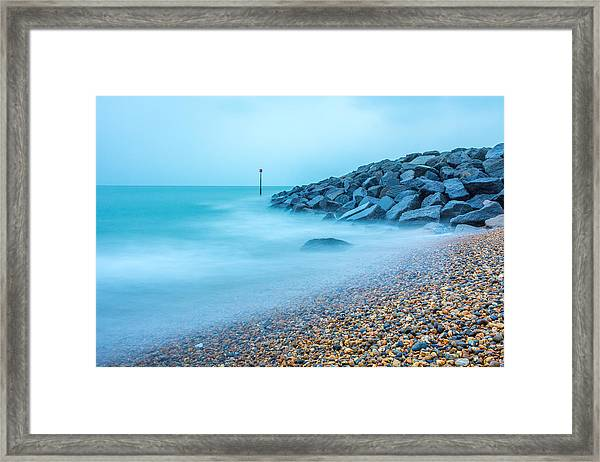 Misty Water. Framed Print