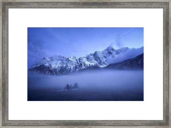Misty Winter Evening Framed Print by Daniel F.