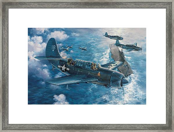 Mitscher's Hunt For The Rising Sun Framed Print