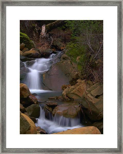 Mix Canyon Creek Framed Print
