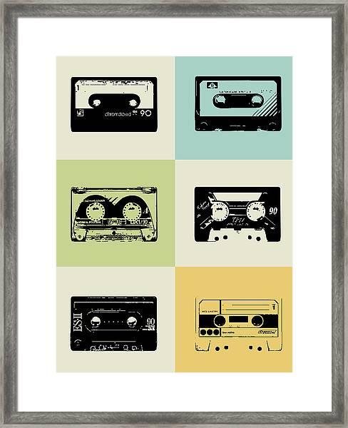 Mix Tape Poster Framed Print